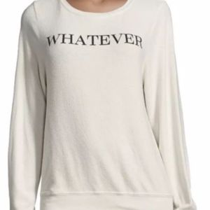 Wildfox Whatever Baggy Beach Jumper In Light Grey